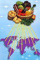 Mercato globale per i prodotti agricoli e alimentari..OMC Organizzazione Mondiale del Commercio. WTO World Trade Organization. ....