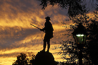 A historical statue of Stonewall Jackson at the Albemarle County courthouse in court square in downtown Charlottesville, Va. Photo/Andrew Shurtleff