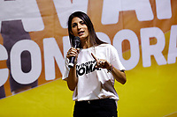 The mayor of Rome Virginia Raggi on the stage during the closing of the election campaign for the new mayor of the Rome.<br /> Rome (Italy), October 1st 2021<br /> Photo Samantha Zucchi Insidefoto