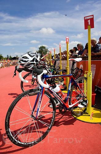 26 JUL 2008 - TREDEGAR, UK - Tim Dons bike in transition - British Elite Triathlon Championships. (PHOTO (C) NIGEL FARROW)
