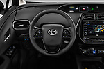 Car pictures of steering wheel view of a 2019 Toyota Priush Lounge 4 Door Hatchback Steering Wheel