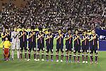 U-20 Japan women's team group line-up (JPN),.AUGUST 26, 2012 - Football / Soccer :.Japan players (L-R) Shiori Kinoshita, Sakiko Ikeda, Haruka Hamada, Ayaka Michigami, Mayo Doko, Yushika Nakamura, Hikaru Naomoto, Mina Tanaka, Yoko Tanaka, Hanae Shibata and Kumi Yokoyama sing the national anthem before the FIFA U-20 Women's World Cup Japan 2012 Group A match between Switzerland 0-4 Japan at National Stadium in Tokyo, Japan. (Photo by Kenzaburo Matsuoka/AFLO)