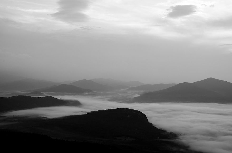 Undercast under overcast provides the makings for a great B+W photograph on an oppressively hot and muggy summer morning.