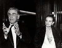 Montreal (Qc) Canada -   Aug 27 1986 file Photo - Gilles Carle (L), Chloee Sainte-Marie (R)