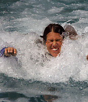 Key Biscayne, FL 3-19-2002<br /> Jennifer Capriati (#1 Womens Tennis Seed)<br /> swims with the dolphins at the Miami Sequarium.<br /> Photo by Adam Scull/PHOTOlink