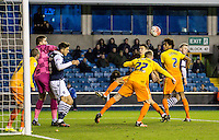 A Millwall attack during the FA Cup 2nd round match between Millwall and Wycombe Wanderers at The Den, London, England on 5 December 2015. Photo by Daniel Dudgeon  / PRiME