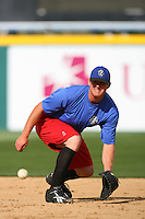 April 15 2009: Jay Brossman of the Rancho Cucamonga Quakes before game against the Visalia Rawhide at The Epicenter in Rancho Cucamonga,CA.  Photo by Larry Goren/Four Seam Images