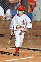 Jake Frye Bat Boy for the Johnson City Cardinalsl against the Elizabethton Twins  during the Appalachian League Championship. Johnson City  won 6-2 at Howard Johnson Field, Johnson City Tennessee. Photo By Tony Farlow/Four Seam Images.