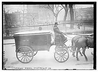 J.P. Morgan Hearse, Stuyvesant Sq. J. P. Morgan's funeral was held on 14 April, 1913