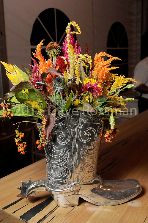 Flowers at the Nature Conservancy's Nature Rocks  Gala at the Houston Polo Club Thursday Oct. 22,2015.(Dave Rossman photo)