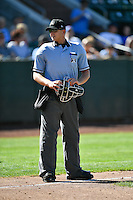 Home plate umpire Josh Sword during the game as the Ogden Raptors faced the Helena Brewers in Pioneer League action at Lindquist Field on July 17, 2016 in Ogden, Utah. Ogden defeated Helena 5-4.  (Stephen Smith/Four Seam Images)