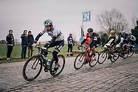 World Champion Peter Sagan (SVK/Bora-Hansgrohe) over the cobbles<br /> <br /> 61th E3 Harelbeke (1.UWT)<br /> Harelbeke - Harelbeke (206km)