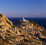 Spain, Balearic Islands, Mallorca, Lighthouse at Cap de Formentor at dawn