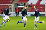 Aberdeen v St Johnstone…26.12.20   Pittodrie      SPFL<br />St Johnstone captain for today Liam Craig pictured during the warm up with Shaun Rooney and David Wotherspoon <br />Picture by Graeme Hart.<br />Copyright Perthshire Picture Agency<br />Tel: 01738 623350  Mobile: 07990 594431