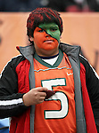 A Miami Hurricanes fan watches the game during the 2010 Hyundai Sun Bowl football game between the Notre Dame Fighting Irish and the Miami Hurricanes at the Sun Bowl Stadium in El Paso, Tx. Notre Dame defeats Miami 33 to 17...