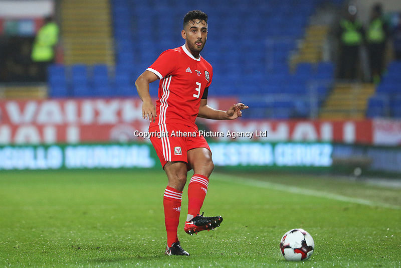 Neil Taylor of Wales during the International Friendly match between Wales and Panama at The Cardiff City Stadium, Wales, UK. Tuesday 14 November 2017
