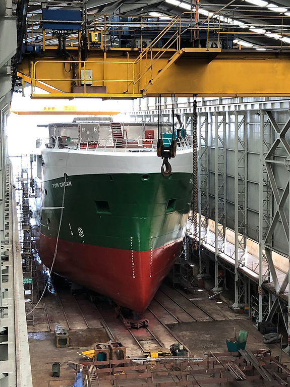 RV Tom Crean hull is completed
