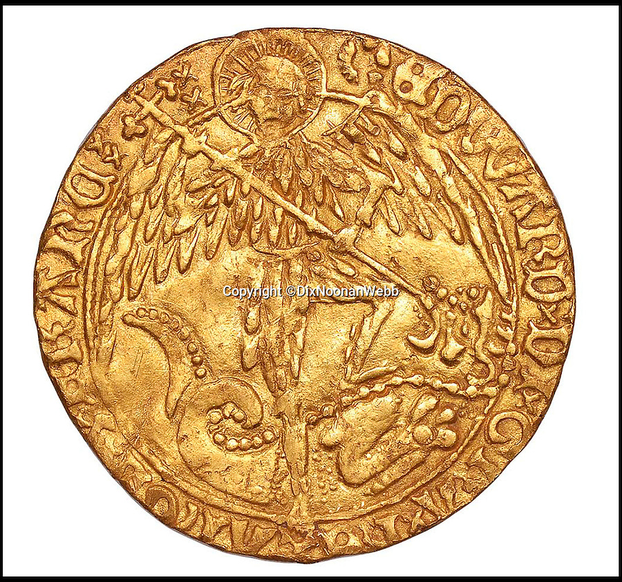BNPS.co.uk (01202 558833)<br /> Pic: DixNoonanWebb/BNPS<br /> <br /> An extremely rare gold coin dating back to the 15th century and worth £15,000 has been unearthed by a metal detectorist who thought it was a bottle top.<br /> <br /> Brian Biddle found the Angel coin - struck during the brief 86 day reign of Edward V who was murdered in the Tower of London - in a farmer's field where it had lain undisturbed for 533 years.<br /> <br /> The land in Tolpuddle, Dorset, had been repeatedly searched over the years by the members of the Stour Valley and Recovery Club before Brian, 64, turned up with his detector machine.