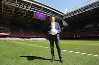Lord Sebastian Coe poses on the pitch with a match ball ahead of Great Britain Women vs New Zealand Women - Womens Olympic Football Tournament London 2012 Group E at the Millenium Stadium, Cardiff, Wales - 25/07/12 - MANDATORY CREDIT: Gavin Ellis/SHEKICKS/TGSPHOTO - Self billing applies where appropriate - 0845 094 6026 - contact@tgsphoto.co.uk - NO UNPAID USE.
