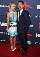 "NEW YORK CITY, NY, USA - MAY 12: Kelly Ripa, Mark Consuelos at the New York Screening Of HBO's ""The Normal Heart"" held at the Ziegfeld Theater on May 12, 2014 in New York City, New York, United States. (Photo by Celebrity Monitor)"