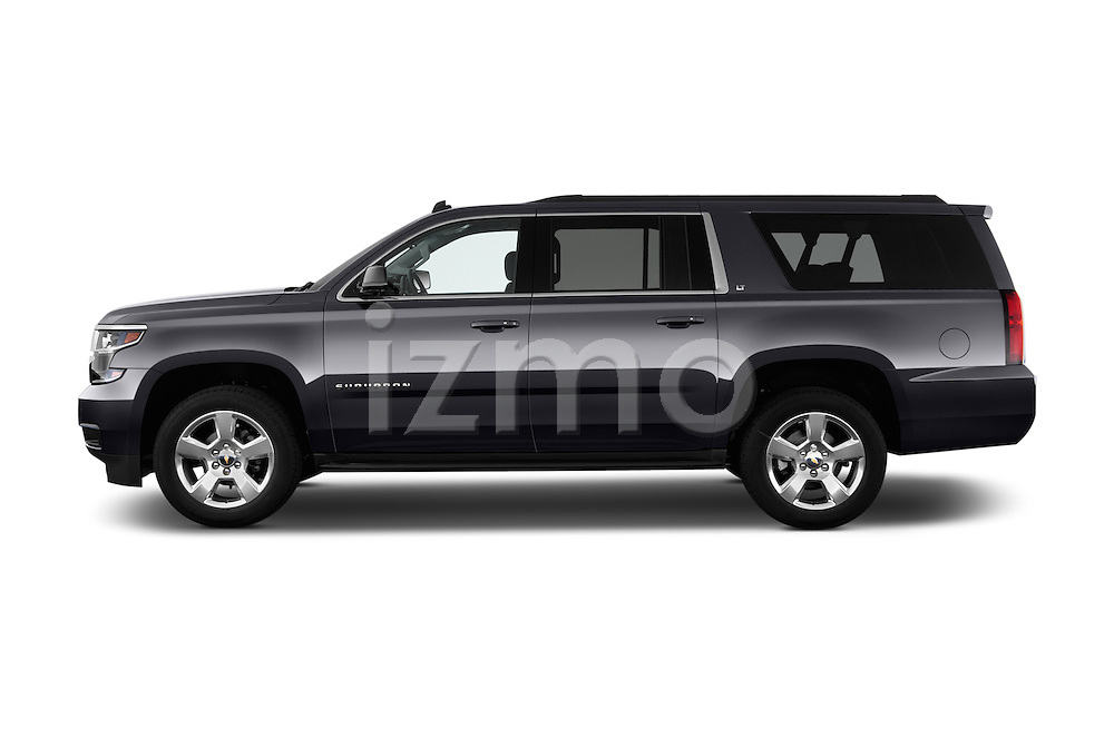 Driver side profile view of a 2015 Chevrolet Suburban 2WD 1500 LT 5 Door SUV