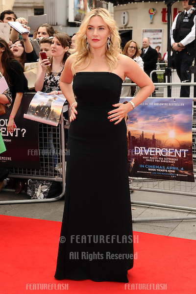 """Kate Winslet arrives for the """"Divergent"""" UK premiere at the Odeon Leicester Square, London. 30/03/2014 Picture by: Steve Vas / Featureflash"""