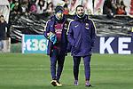 FC Barcelona's Jordi Alba and Arda Turan during La Liga match. March 3,2016. (ALTERPHOTOS/Acero)