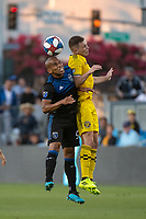 San Jose, CA - Saturday August 03, 2019: Judson #93, Wil Trapp #6 in a Major League Soccer (MLS) match between the San Jose Earthquakes and the Columbus Crew at Avaya Stadium.