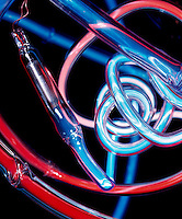 NEON TUBING WITH ELECTRODE<br /> Mixtures of neon and other gases emit bright colors when excited by an electric discharge.