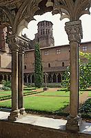 Europe/France/Midi-Pyrénées/31/Haute-Garonne/Toulouse: Musée des Augutins - Le cloître et le jardin (XIV siècle)