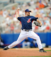 11 March 2008: Cleveland Indians' pitcher Matt Ginter on the mound during a Spring Training game against the Detroit Tigers at Chain of Lakes Park, in Winter Haven Florida. The Tigers rallied to defeat the Indians 4-2 in the Grapefruit League matchup...Mandatory Photo Credit: Ed Wolfstein Photo