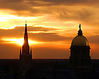 Basilica of the Sacred Heart and Main Building<br /> <br /> Photo by Matt Cashore/University of Notre Dame