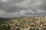 Israel, Upper Galilee. Druze village Beth Jan on Mount Meron.