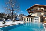 Austria, Tyrol, international Wintersport Resort Seefeld: Hotel Seespitz at idyllic Wild Lake, Wellness area
