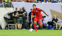 NASHVILLE, TENN - JULY 03: Weston McKennie #8 during a 2019 CONCACAF Gold Cup Semifinal match between the United States and Jamaica at Nissan Stadium on July 03, 2019 in Nashville, Tennessee.