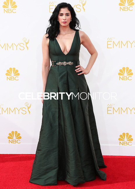 LOS ANGELES, CA, USA - AUGUST 25: Actress Sarah Silverman arrives at the 66th Annual Primetime Emmy Awards held at Nokia Theatre L.A. Live on August 25, 2014 in Los Angeles, California, United States. (Photo by Celebrity Monitor)