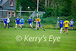 Mike Hoare of Ballymac puts a fine effort sailing over the black spot against Annascaul in the Division 2b game of the County Football League