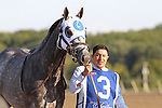 September 19, 2015.  Frosted heads to the paddock for the PA Derby. Frosted, Joel Rosario up, wins the $1,000,000 Grade II Pennsylvania Derby, one and 1/8th miles for three-year-olds, at  Parx Racing in Bensalem, PA. Trainer is Kiaran McLaughlin, owner is Godolphin Racing. (Joan Fairman Kanes/ESW/CSM)