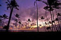 A spectacular Hawaiian sunset.