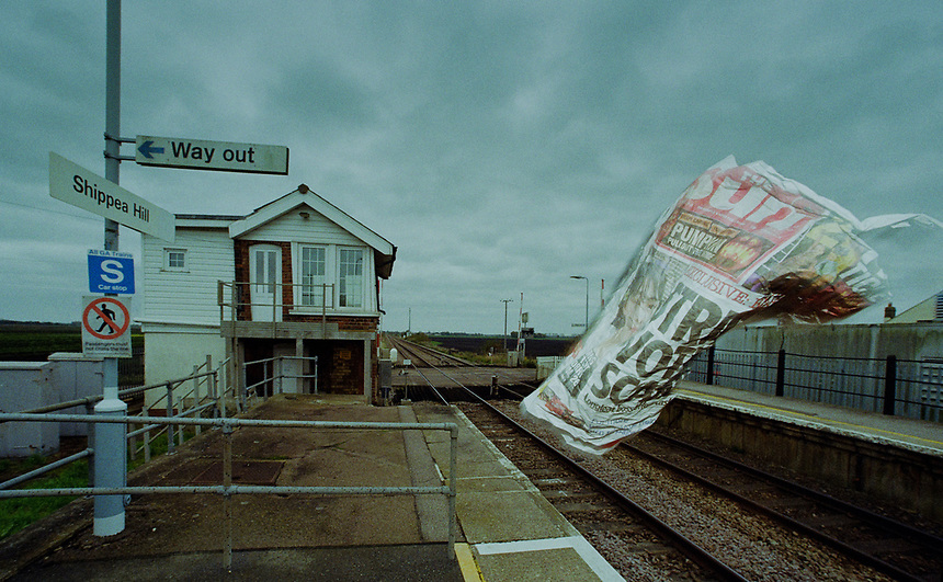 Shippea Hill station in Cambridgeshire. The request-only stop is the least used in Britain