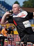 Kyle Pettey, Toronto 2015 - Para Athletics // Para-athlétisme.<br /> Kyle Pettey competes in the Men' Shot Put F32/33/34 // Kyle Pettey participe au lancer du poids masculin F32/33/34. 12/08/2015.