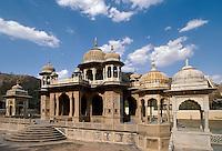 Indien, Jaipur (Rajasthan), Chhatri von Gaitor, Grabstätte der königl. Familie