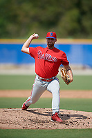 Philadelphia Phillies pitcher Jack Perkins (39) during an Instructional League game against the Toronto Blue Jays on September 27, 2019 at Englebert Complex in Dunedin, Florida.  (Mike Janes/Four Seam Images)
