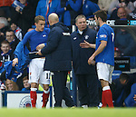 Dean Shiels comes on for the injured Andy Little
