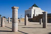 Afrique/Afrique du Nord/Maroc/Rabat: Ruines de la Mosquée Hassan et Mausolée Mohammed V