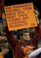 Virginia Tech fans are pictured during Sugar Bowl game at Mercedes-Benz SuperDome in New Orleans, Louisiana on January 3rd, 2012.  Michigan defeated Virginia Tech, 23-20 in first overtime.