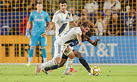 CARSON, CA - SEPTEMBER 21: Jonathan dos Santos #8 of the Los Angeles Galaxy moves with the ball during a game between Montreal Impact and Los Angeles Galaxy at Dignity Health Sports Park on September 21, 2019 in Carson, California.