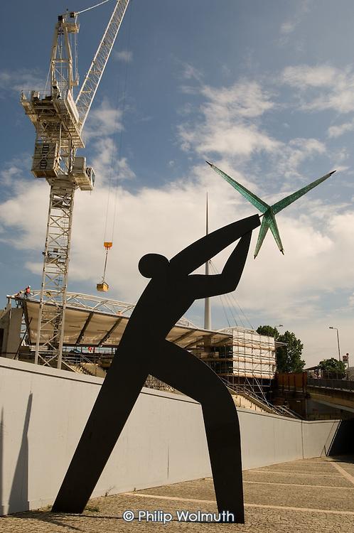 The rebuilding of Wembley Park underground station nears completion, opposite Wembley Stadium.