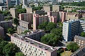 Camden Council housing: Regents Park Estate viewed from Ampthill Square Estate, Camden Town