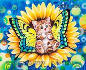 Kayomi, CUTE ANIMALS, paintings, SunflowerFairy_M, USKH150,#AC# illustrations, pinturas ,everyday